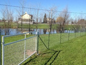 FIELD FENCE WITH GATE