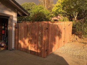 OUTSIDE VIEW IRON FRAME GATES