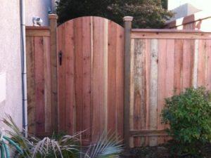 REDWOOD ARCHED WALK GATE