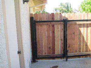 WOOD GATE, IRON FRAME